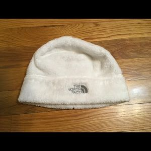 The North Face fleece winter hat for girls.